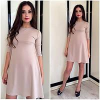 Модное короткое платье-трапеция