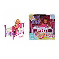 """Кукла Ева """"Будь здорова"""" в кроватке с игрушкой 5 736 642 ТМ: Simba"""