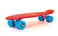 Пенни борд (Penny Board) Transparent прозрачный красный SK-4307-4