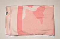 Одеяло плед для новорожденного розовый  на флисе Турция.