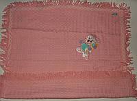 Плед одеяло для новорожденного розовый Турция.