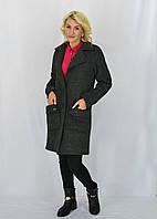 Креатывное женское пальто в полоску