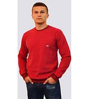 Однотонный мужской свитер красного цвета