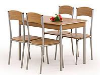 Кухонный комплект Halmar Longin стол и 4 стула орех