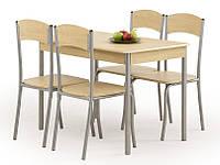 Столовый комплект Halmar Longin стол+стулья дуб светлый