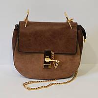 Маленькая женская сумка коричневая 9101
