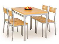 Столовый комплект Halmar Malcolm (стол + 4 стула) ольха