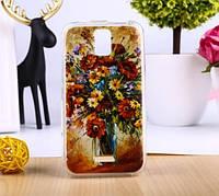 Оригинальный чехол панель накладка для Huawei Y3 с картинкой Ваза с цветами