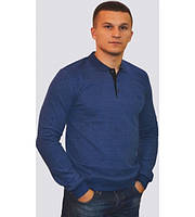 Модный мужской свитер с воротником цвета индиго