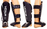 Защита для ног (голень+стопа) FLEX VENUM VL-5243-BKW (р-р M-XL, черный-белый)