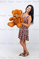 Большой плюшевый мишка, медведь Томми 50см коричневый
