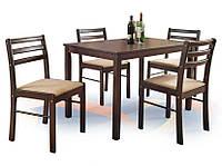 Столовый комплект Halmar New Starter стол + 4 стула с мягким сидением