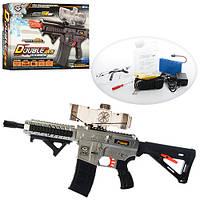 Игрушечное оружие автомат F19B: аккумулятор, водяные пули, прицел, очки, коробка 46х28х9,5 см