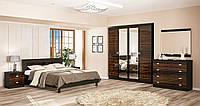 Ева NEW комплект спальни 4Д  (Мебель-Сервис) макасар