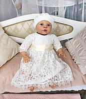 Комплект из платья и берета на выписку или крестины
