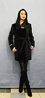 Черное пальто ICON 8502