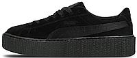 Женские кроссовки Puma Suede Creeper by Rihanna (Пума Рианна) черные