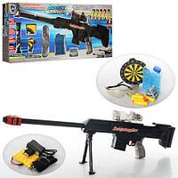Игрушечное оружие на аккумуляторе 661-3: водяные шарики, 5 пуль с присосками, очки, свет, ремень