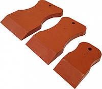 Набор резиновых шпателей из стойкой к агрессивным жидкостям резины, красный, твердый