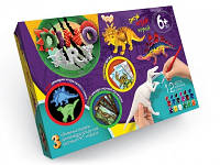 Набор для творчества - объемные модели динозавров для ручной росписи Dino Art DA-01-01