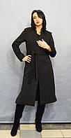 Темно-серое женское пальто ICON 3284