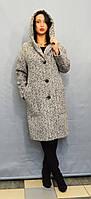 Светло-серое женское пальто Icon 8549