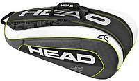 Мужская теннисная сумка-чехол для девяти ракеток 283086 Djokovic 9R Supercombi BKWH HEAD