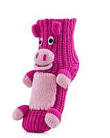 Акриловые носки тапочки свинка