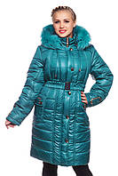 Женская зимняя куртка батал Бетти бутылка 50-64 размеры