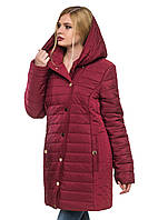 Зимняя куртка с капюшоном Зара слива 44-52 размеры