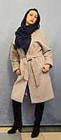 Пальто бежевое Velvet 22313