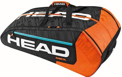 Мужская  удобная теннисная сумка-чехол  на 12 ракеток 283186 Radical 12R Monstercombi BKOR HEAD