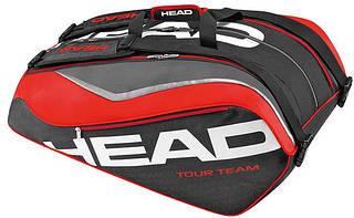 Легкая сумка-чехол для большого тенниса  на 12 ракеток 283216 Tour Team 12R Monstercombi  BKRD HEAD