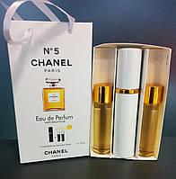 Мини парфюм Chanel № 5 (Шанель № 5) + 2 запаски, 3 по 15 мл.