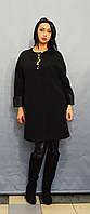 Пальто батальное черное Sassofono 500301