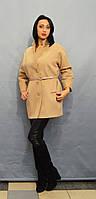 Женское бежевое пальто ICON 9229