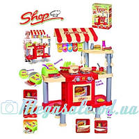 Детская кухня-магазин с плитой и духовкой: касса + продукты в комплекте
