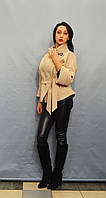 Женское бежевое пальто ICON 2737