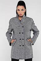Пальто серое демисезонное женское 44,46,48,50