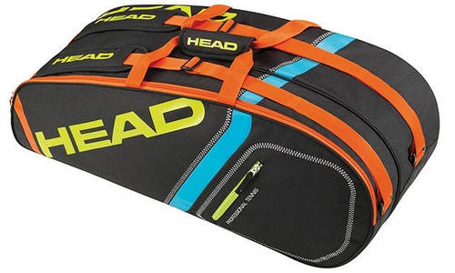 Черная сумка-чехол для большого тенниса на 6 ракеток  283345 Core 6R Combi  BKNE HEAD