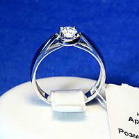 Женское кольцо из серебра родированное с камнем 11033р