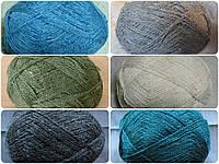 Пряжа полушерстяная с ангорой для ручного вязания