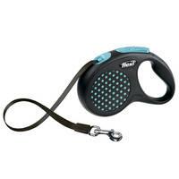 Поводок - рулетка для собак лента Flexi Design S Tape (5м/15кг) зеленый