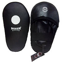 Лапы боксерские Boxer прямые кожа
