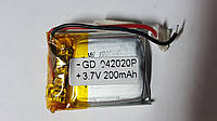 Аккумулятор (04*20*20), 3.7V, 200mAh