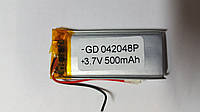 Аккумулятор (04*20*48), 3.7V, 500mAh