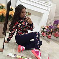 Женские спортивные лосины с цветами