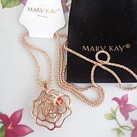 """Подвеска / кулон с цепочкой от Mary Kay  """"Золотая роза"""""""