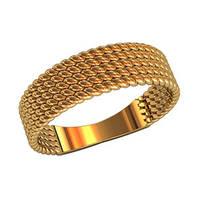 Рифленое женское золотое кольцо 585* пробы