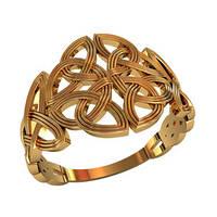 Прекрасное золотое кольцо 585* пробы с перфорированным узором
